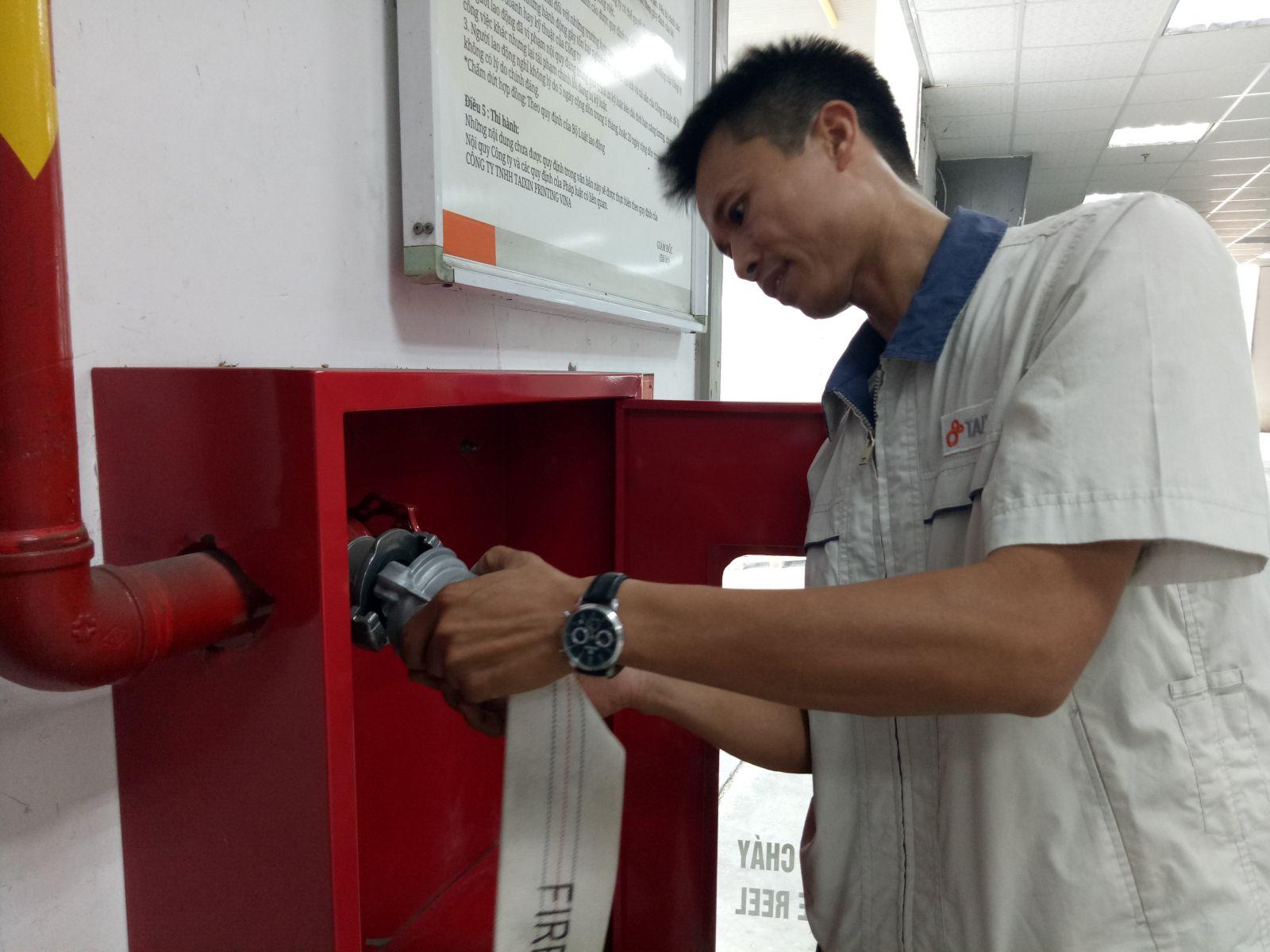 Đào tạo PCCC nội bộ cho toàn bộ công nhân viên năm 2017